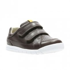 Clarks Boys Emery Walk Toddler Kids Velcro Shoes - Brown Leather