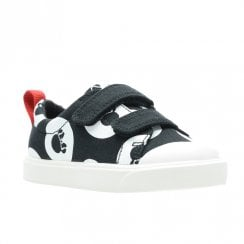Clarks City Polka Lo F Canvas Kids Sport Shoes - Black Combi