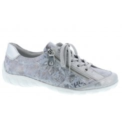 Remonte R3435-42 Ladies Silver Combination Lace Up Shoes