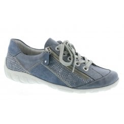 Remonte R3419-17 Ladies Blue Combination Lace Up Shoes