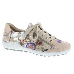 Remonte R1402-32 Ladies Multi Beige Colour Lace Up Shoes
