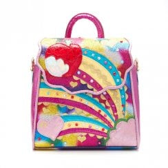 Irregular Choice Rainbow Splash Rucksack Bag - Pink