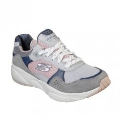 Skechers Womens Meridian Charted 13019 Sneakers - Grey/Pink