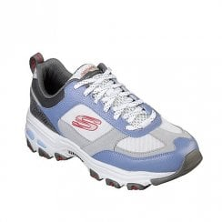 Skechers Womens D'Lites Fan Love 13140 Sneakers - Grey/Blue