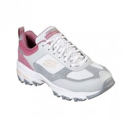 Skechers Womens D'Lites Fan Love 13140 Sneakers - Grey/Pink
