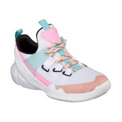 Skechers Womens D'Lites DLT-A True Summer 12944 Sneakers - White/Pink/Blue