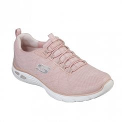 Skechers Womens Relaxed Fit: Empire D'Lux - Spotted 12825 Sneakers - Rose