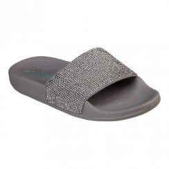Skechers Womens Pop Ups Stone Age 32369 Slider - Pewter
