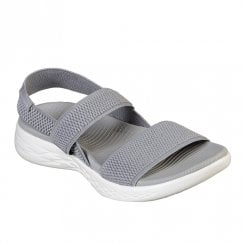 Skechers Womens On the GO 600 Flawless 15312 Comfort Flat Sandals - Grey