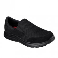 Skechers Work Relaxed Fit: Flex Advantage McAllen SR Slip On Sneakers - Black