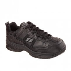 Skechers Work Relaxed Fit: Soft Stride Grinnell Comp Toe Sneakers - Black