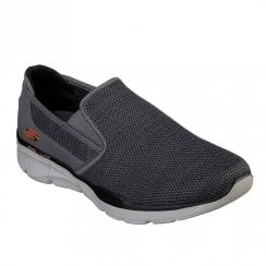 Skechers Mens Equalizer 3.0 Sumnin 52937 Slip On Sneakers - Charcoal/Orange