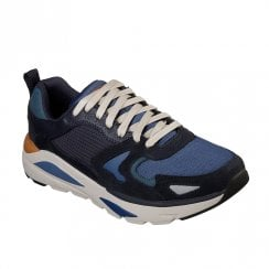 Skechers Mens Relaxed Fit: Verrado Brogen 66020 Sneakers - Navy
