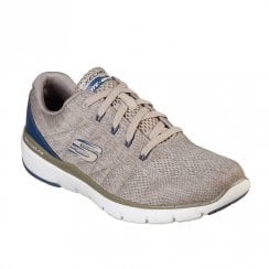 Skechers Mens Flex Advantage 3.0 Stally 52957 Sneakers - Taupe/Blue