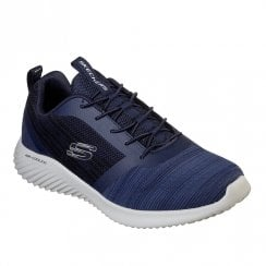 Skechers Mens Bounder 52504 Lace Up Sneakers - Navy