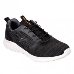 Skechers Mens Bounder 52504 Lace Up Sneakers - Black