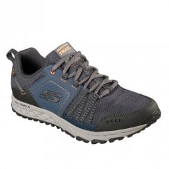 Skechers Mens Escape Plan 51591 Lace Up Sneakers - Navy