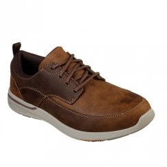 Skechers Mens Relaxed Fit: Elent Leven 65727 Sneakers Shoes - Brown/Tan