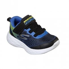 Skechers Kids Go Run 600 Farrox 97867N Velcro Sneakers - Blue/Lime