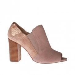 Amy Huberman Valley Girl Blush Triptych Block Heeled Open Toe Shoes - Pink