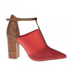 Amy Huberman Half Magic Pointed High Heels - Coral Red