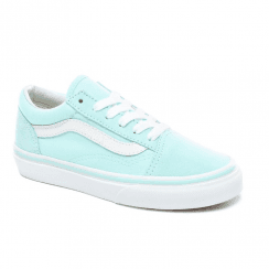 Vans Kids Old Skool Lace Up Trainers Shoes - Blue/Turquoise