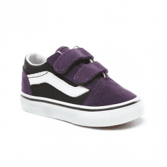 7310ae4b7bc8d Vans Kids Toddler Suede Old Skool V Shoes - Black/Purple ...