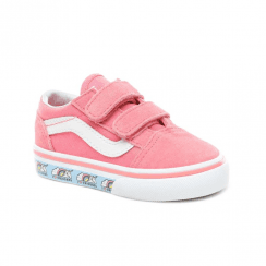 bac9fd7ecdfdc8 Vans Kids Toddler Suede Unicorn Old Skool V Shoes - Strawberry Pink