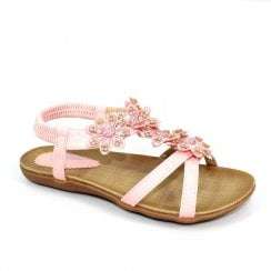 Lunar Girls Fiji Junior T-Bar Sandals JCH002 - Pink