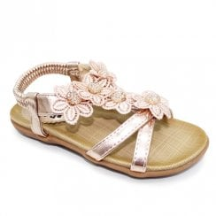 Lunar Girls Fiji Junior T-Bar Sandals JCH002 - Rose Gold