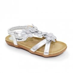 Lunar Girls Fiji Junior T-Bar Sandals JCH002 - Silver