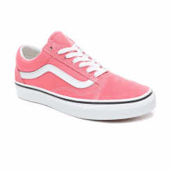 ff130e38d3 Vans Womens Old Skool Low Top Sneakers - Strawberry Pink True White