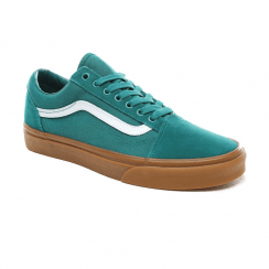Vans Unisex Old Skool Low Top Sneakers - Quetzal Green/Gum
