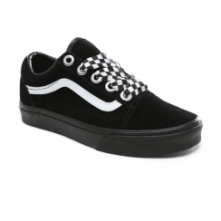 d67229d6bf33 Vans Womens Check Lace Old Skool Sneakers - Black