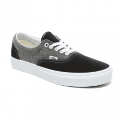 Vans Unisex Chambray Era Sneakers - Canvas Black/True White