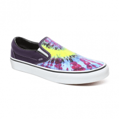 Vans Unisex Tie Dye Slip-On Shoes - Mysterioso/True White