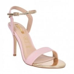 Glamour Suzy Barely There Strappy Heeled Sandals - Pink