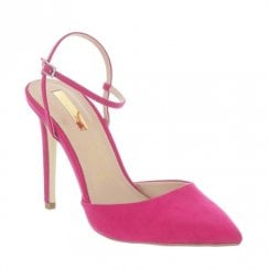 Glamour Camie Faux Suede Pointed Toe Sandals - Pink