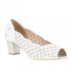 Zanni & Co St Augustine Gem Low Block Heel Shoes - Silver