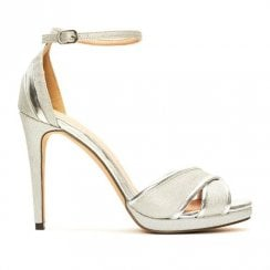 Menbur Valturva Silver High Heeled Strappy Sandals - 20223