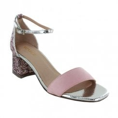 Menbur Vanazzi Rose Multi Small Glitter Block Heel Sandals - 20244