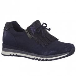 Marco Tozzi Womens Side Zip Sneakers - Navy