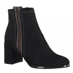 Marco Tozzi Womens Mid Block Heel Ankle Boots - Black