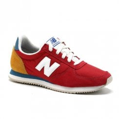 New Balance Mens 220 Red Suede Sneakers - U220FH