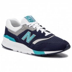 New Balance Mens 997 Navy Suede Sneakers - CM997HCT