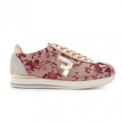 Replay Ladies Sunny Pink Floral Lace Up Sneakers Shoes