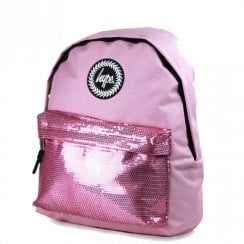 Hype Pink Orchid Sequins Backpack - HY006-0048