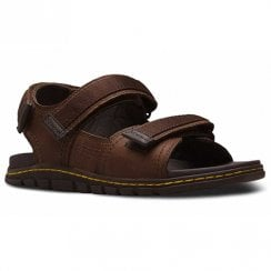 Dr Martens Mens Athens Casual Velcro Sandals - Brown Leather