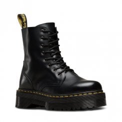 Dr Martens Womens Jadon Polished Smooth Leather Ankle Boots - Black