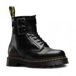 Dr Martens Unisex 1460 ALT Smooth Leather Punk Ankle Boots - Black